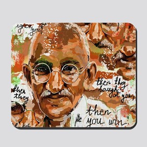 Gandhi wins Mousepad